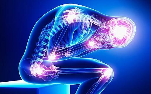 Image scanner d'une personne qui présente différents symptômes et pathologies